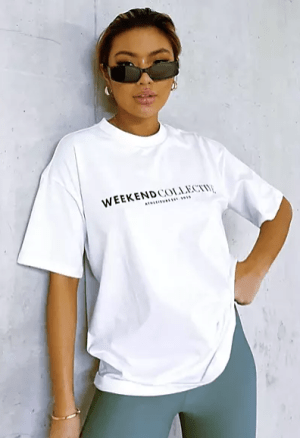Weekend Collective Boxy White T-Shirt