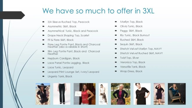 We have so much to offer in 3XL
