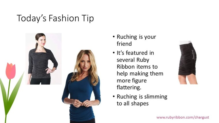 ruching fashion tip