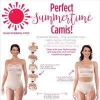 "Summer options to ""ditch your bra""!"