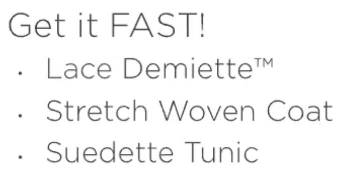 get it fast