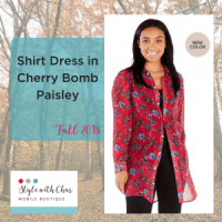 New Shirt Dress option is the (cherry) Bomb