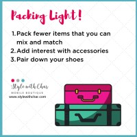 Tips for packing light!