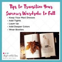 5 Fun Tips to Help your Wardrobe Move into Fall