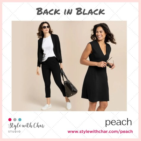 Two best sellers pieces from Peach now available in black