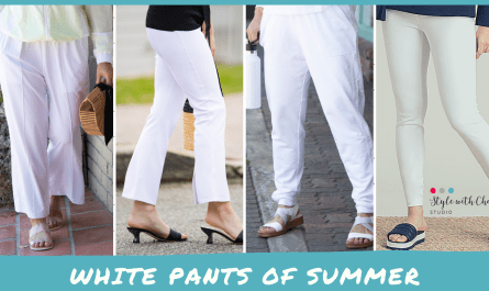 4 options for white summer pants