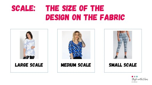 Examples of scale within prints and patterns