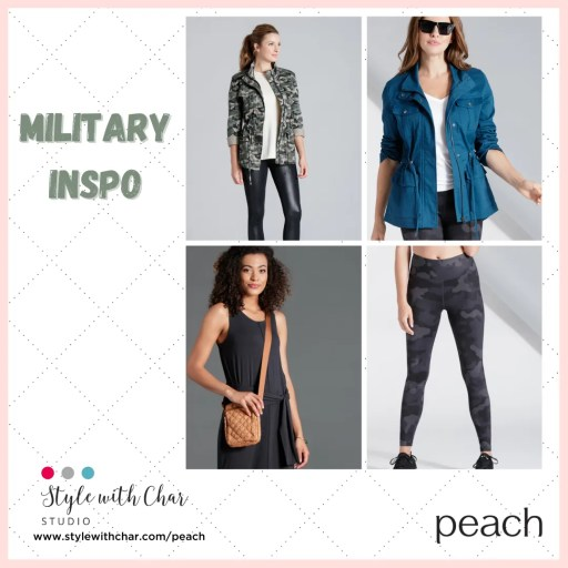 Military Inspired New Arrivals from Peach