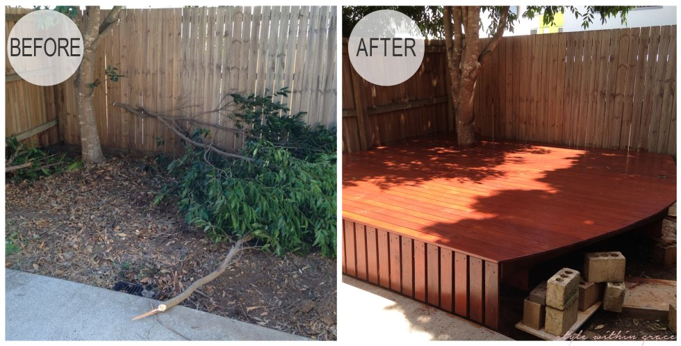 Backyard Deck Before and After 1