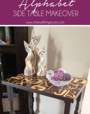 DIY Alphabet Side Table Makeover 2