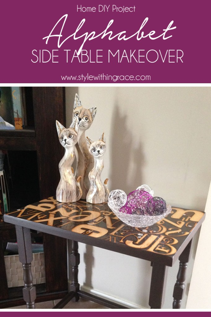 DIY: Alphabet Side Table Makeover