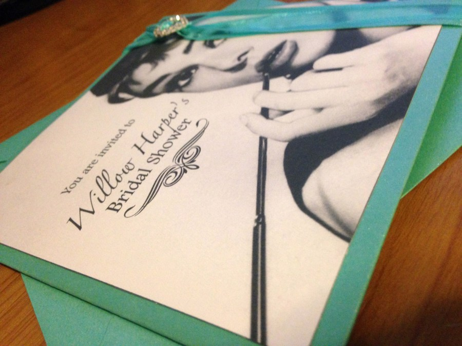 Breakfast at Tiffany's Bridal Shower Invites 2