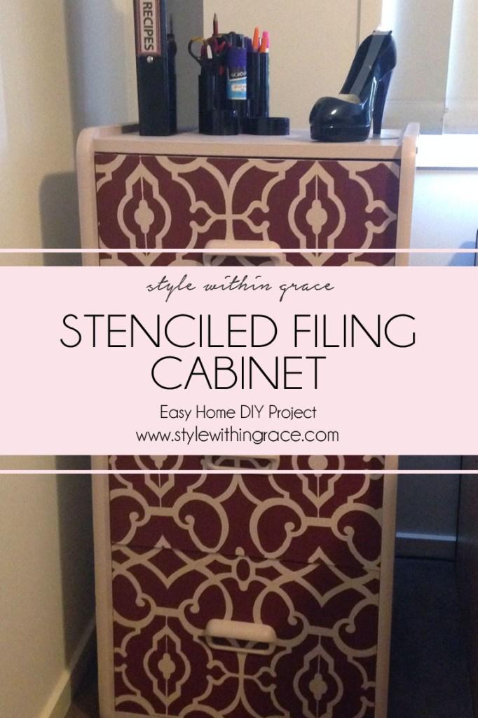 DIY: Filing Cabinet Stencil Makeover