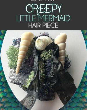 Creepy Little Mermaid Costume Hair Piece DIY