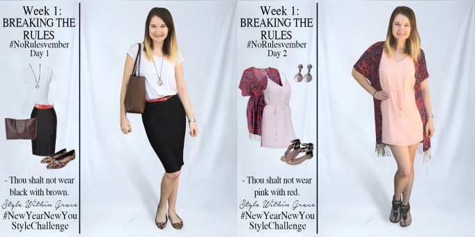 No[Rules]vember Week 1 Outfit Ideas