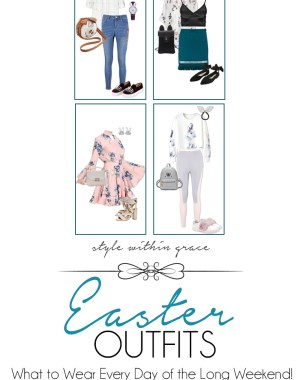 Easter Long Weekend Outfits Pinterest Graphic