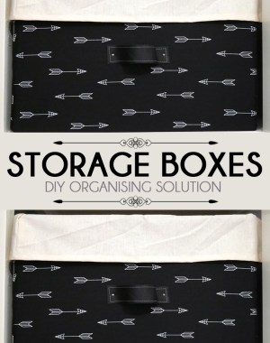 DIY Fabric Storage Boxes Pinterest Share Image