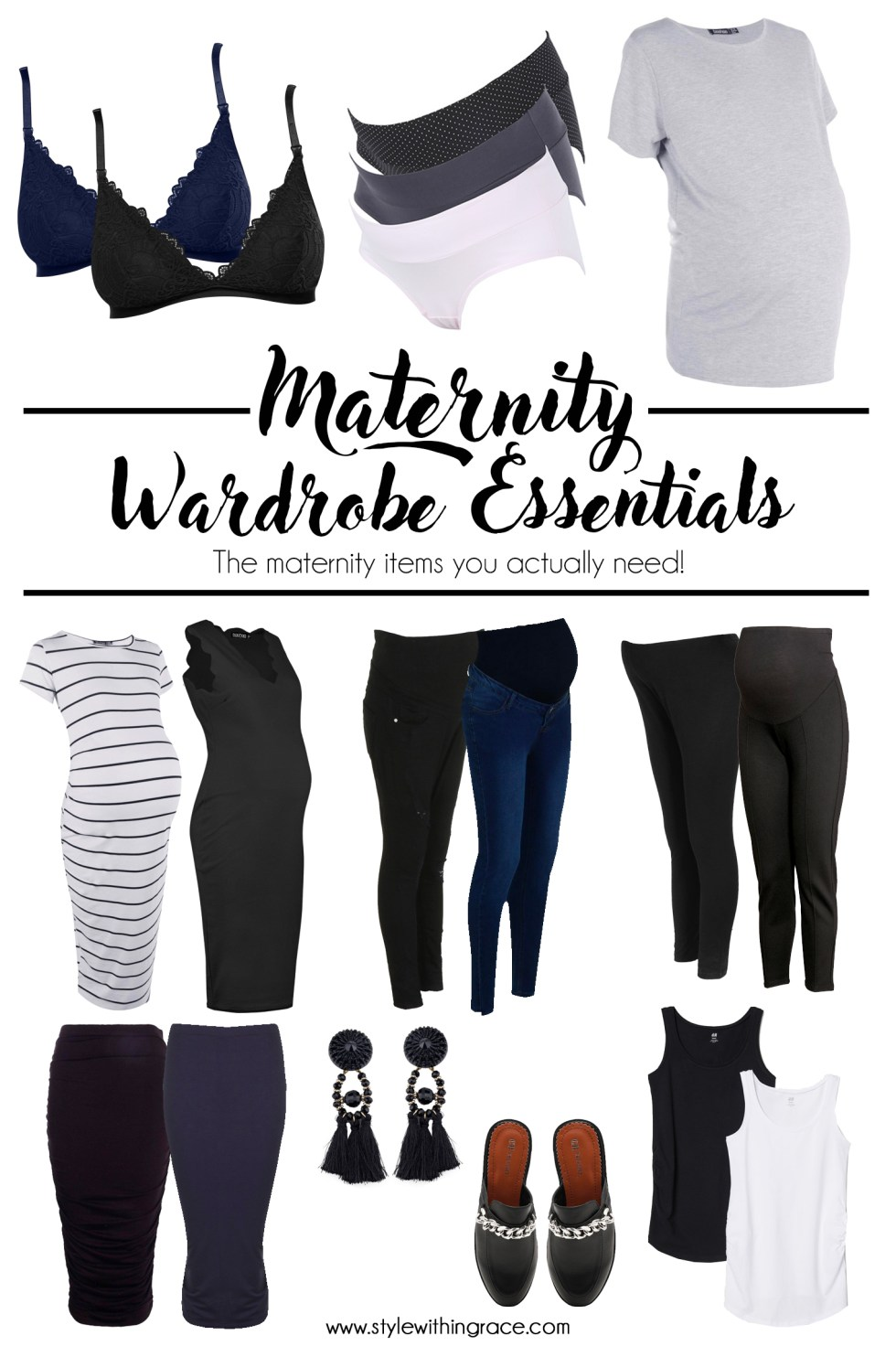 My top 10 maternity wardrobe essentials that you absolutely need to get through your first pregnancy. Awesome and versatile closet basics that you can stock up on to take you through pregnancy in style and comfort!