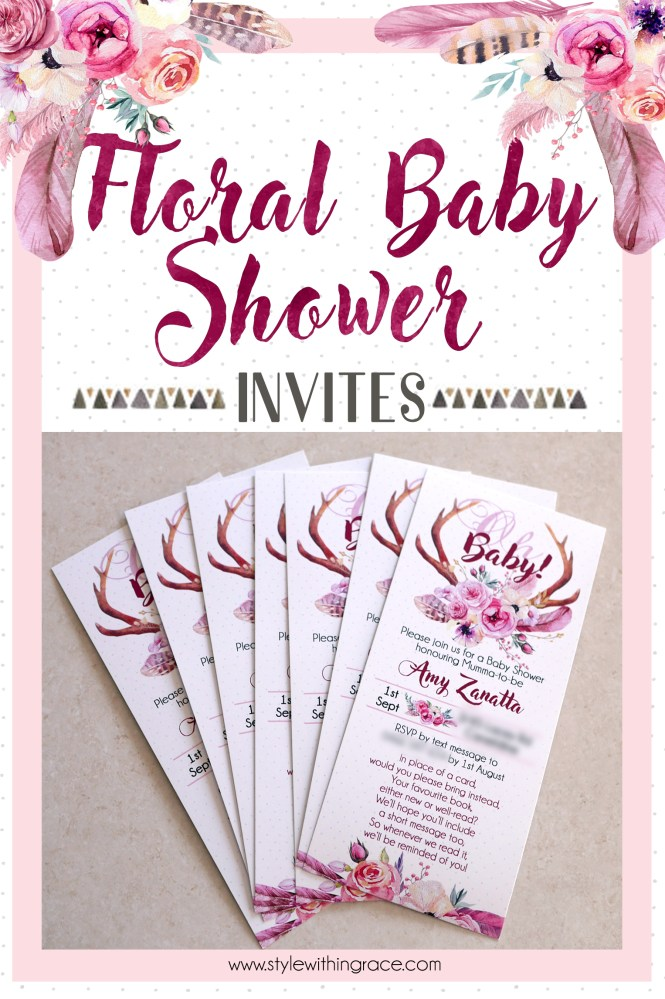 Fl Baby Shower Invites Style Within Grace