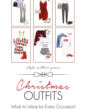 Christmas Outfits Pinterest Graphic
