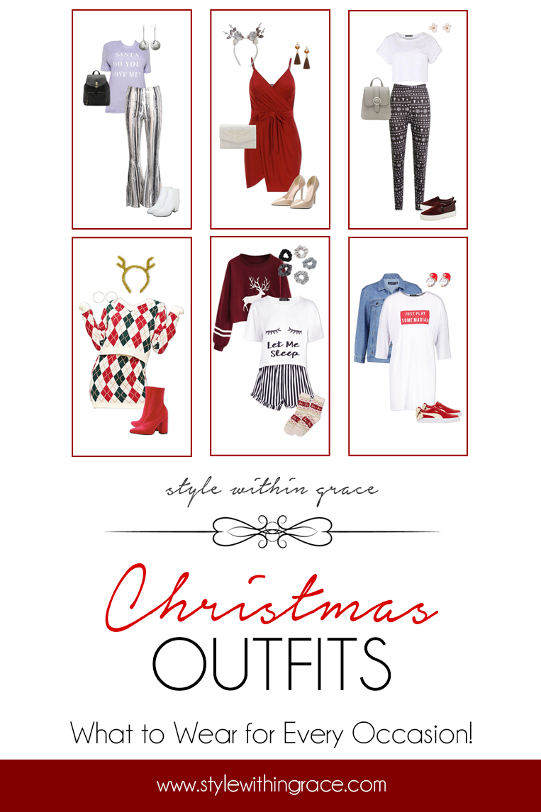 Whether you are Christmas obsessed or would rather forget the time of year the silly season is a great excuse for a cute new outfit. I have the perfect outfit for you for every occasion from work Christmas parties, Christmas Eve pjs, Christmas Day family lunch and boxing day sales.