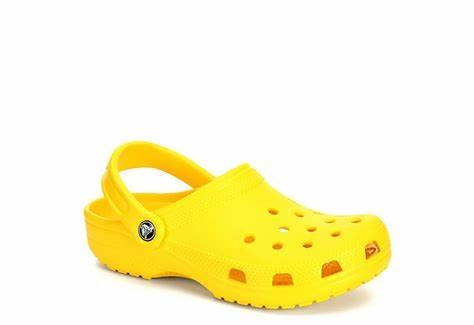 lemon yellow crocs