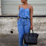 zara denim jumpsuit 2016  for women