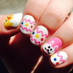 cute nail art designs of easter 2017