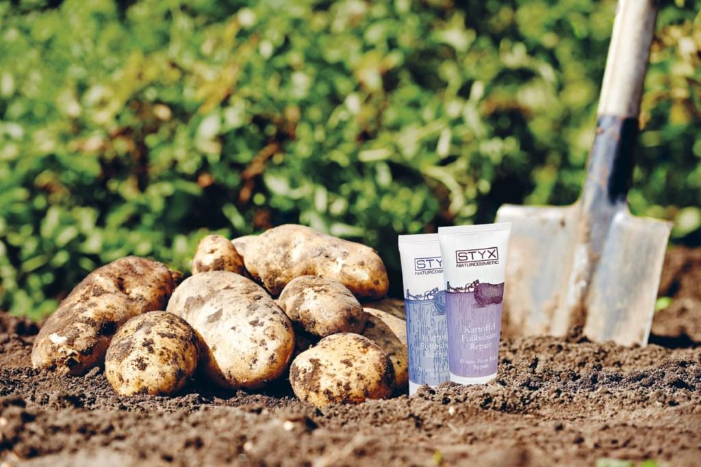 Kartoffelsaft ist ein Inhaltsstoff von Naturkosmetika.