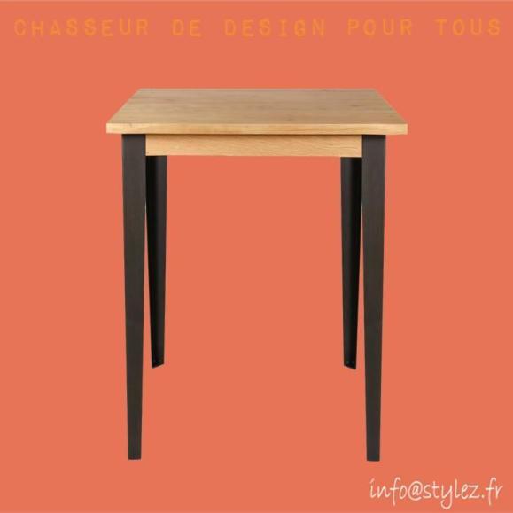 table de bar manhattan en bois et métal