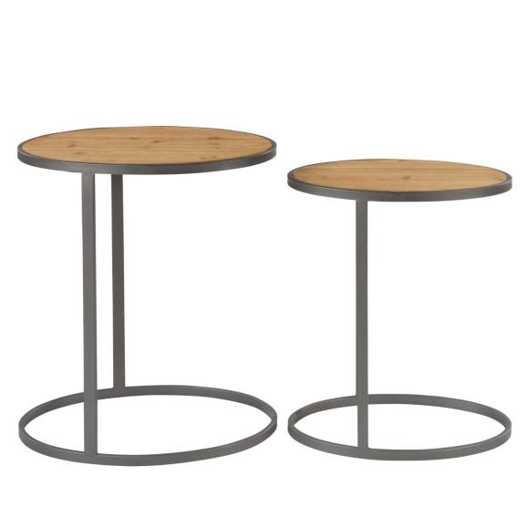 table basse ronde sbven en bois