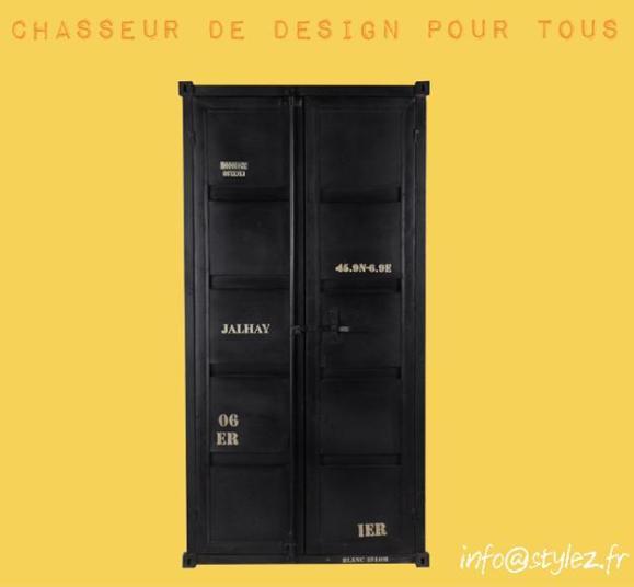 armoire conteneur 4 niveaux vintage