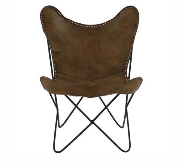 fauteuil butterfly marron