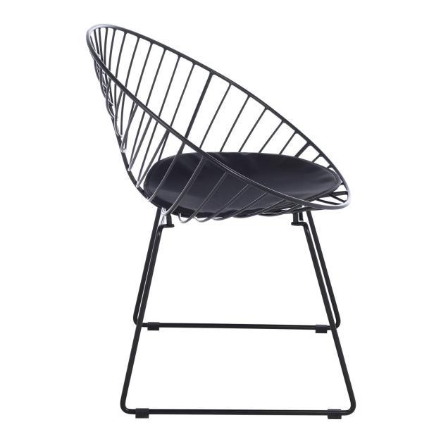 fauteuil confortable design noir mate