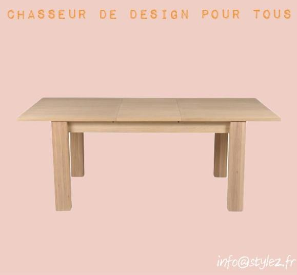 table rallonge bois marron clair
