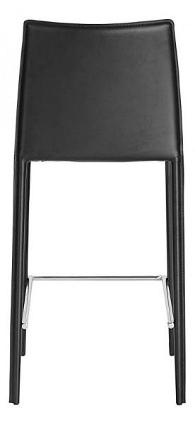 tabouret de bar noir en cuir classique