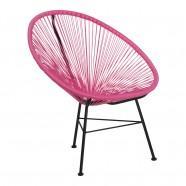 chaise rose prune acapulco