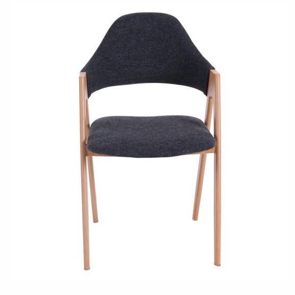 chaise élégante tissu foncé bois