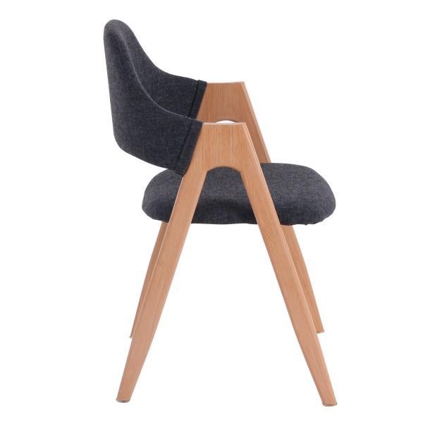 chaise nordique assise dossier foncé