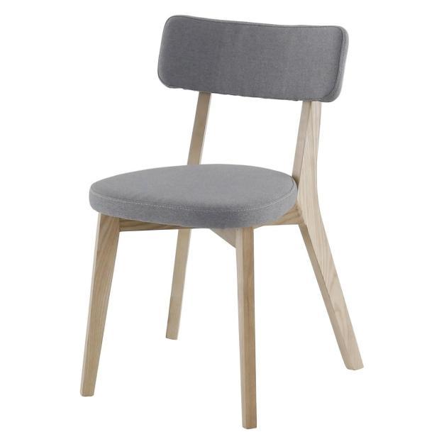 chaise gris clair alison