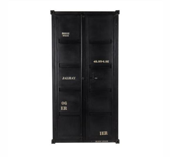 armoire container industrielle noir mate