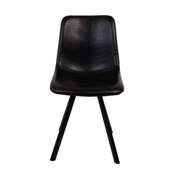 chaise noire cuir couleur noire