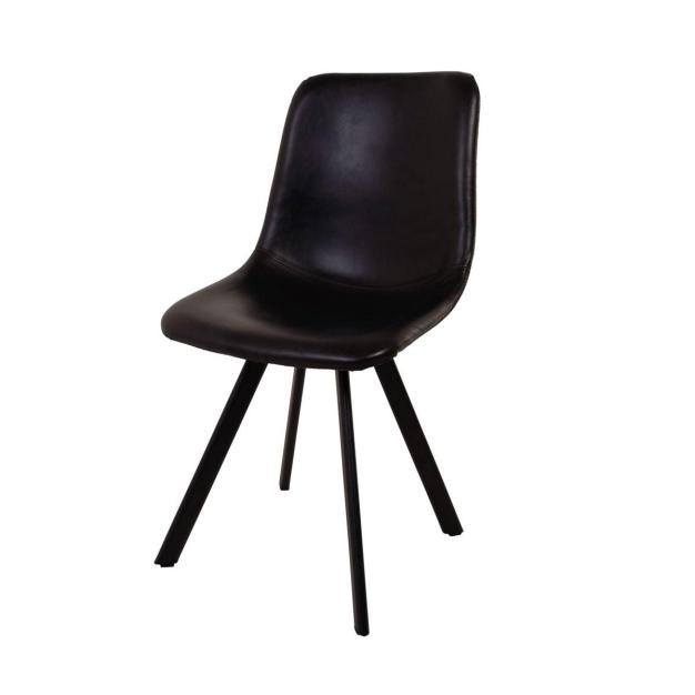 chaise moderne noire style scandinave
