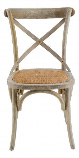 chaise vintage effet vieilli bois