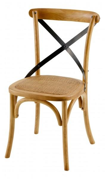 chaise bar assise armature bois
