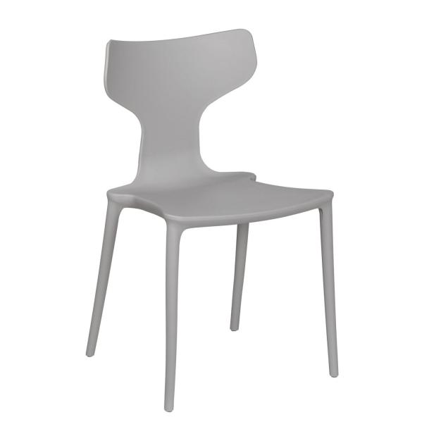 chaise dossier blanche grise mate