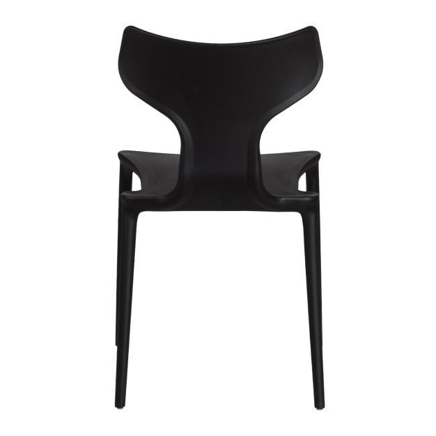 chaise dossier haute qualité noir