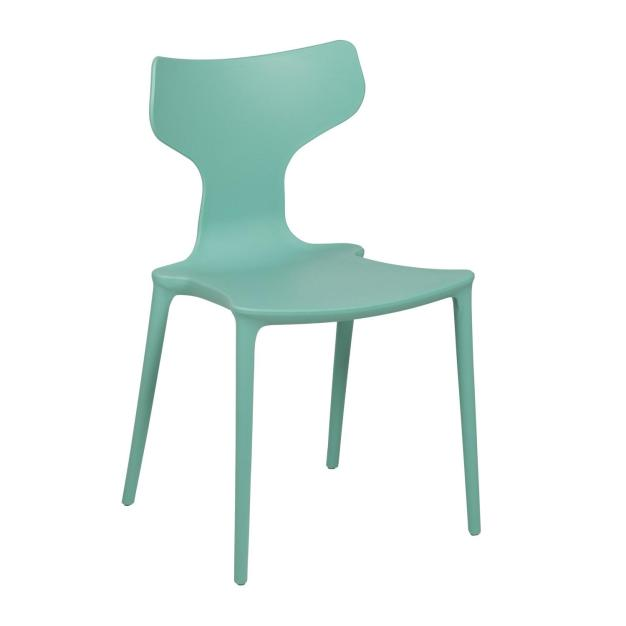 chaise bleu design mate