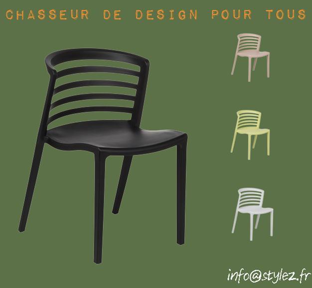 chaise rayure noire
