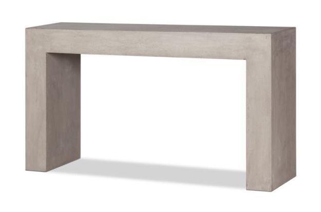 console élégante moderne gris clair